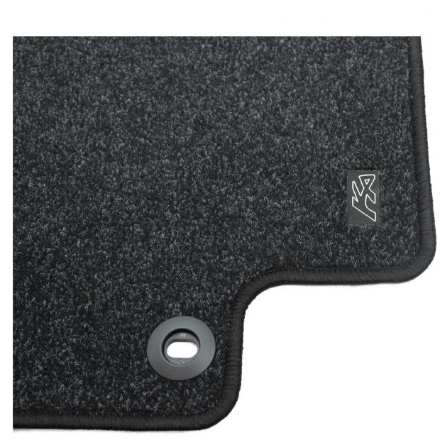 Satin Black Standard Carpet Mat Set (Rhd)