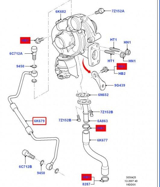 turbo oil feed hose