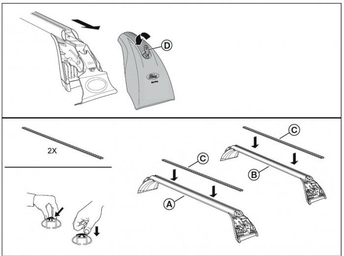 roof rack cross bar kit