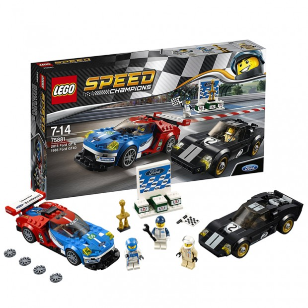 Ford GT 2016 & Ford GT40 1966 LEGO Kit