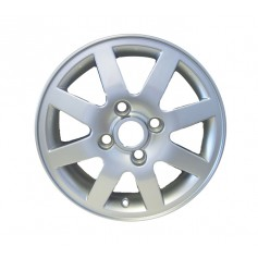"Ka Alloy Wheel 14"" x 5J Silver Chrome Look 8 Spoke from 15-02-2000 to 30-09-2008"
