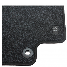 Satin Black Standard Carpet Mat Set (Rhd)