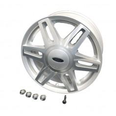 "Alloy Wheel 15"" x 6J Silver 6 x 2 Spoke"