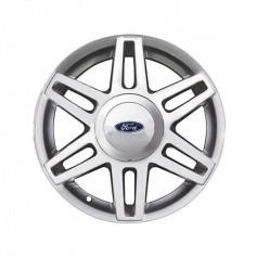 """Alloy Wheel 15"""" x 6J Silver Machined 6 x 2 Spoke"""