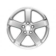 "Alloy Wheel 17"" x 6.5J Silver 5 Spoke"