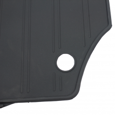 Rear Rubber Black Mats 3Rd Row