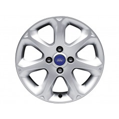 Fiesta Alloy Wheel 16'' x 6.5J Sparkle Silver 7 Spoke from 22-09-2008 to 05-11-2012