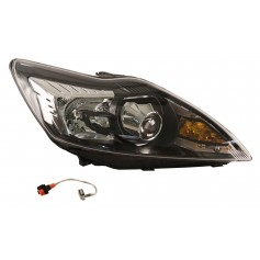 Ford Focus RHD RH High Intensity Discharge HID Headlamp with Black Bezels From 03-12-2007 To 29-07-2011