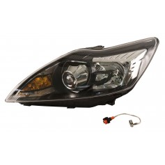 Ford Focus RHD LH High Intensity Discharge HID Headlamp with Black Bezels From 03-12-2007 To 29-07-2011