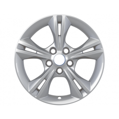 "Alloy Wheel 16"" x 7J Silver 5 x 2 spoke"