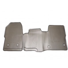 Ford Transit Custom & Transit RHD Front Rubber Mat Set for Easy Clean Rubber Floor & Dual Passenger Seat From 03-09-2012 Onwards