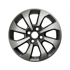 "Alloy Wheel 16"" x 6.5J Rock Metallic Machined 8 Spoke"