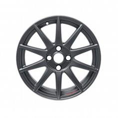"Fiesta Alloy Wheel 17"" x 7J Graphite Matte / Magnetite Matt with Performance Logo 10 Spoke from 05-11-2012 Onwards"