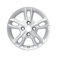 "Alloy Wheel 15"" x 6J Sparkle Silver 5 x 2 Spoke"
