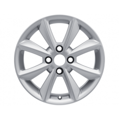 "Fiesta Alloy Wheel 16"" x 6.5J Sparkle Silver 8 Spoke from 15-05-2017 onwards"