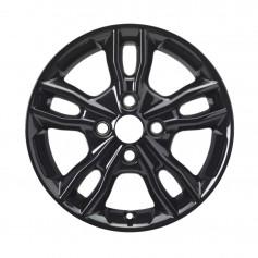 """Alloy Wheel 15"""" x 6J Panther Black 5 x 2 Spoke"""