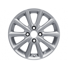 "Alloy Wheel 16"" x 6.5J Sparkle Silver 10 Spoke"