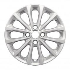 """Fiesta Alloy Wheel 16"""" x 6.5J Sparkle Silver 12 Spoke from 05-11-2012 to 15-05-2017"""
