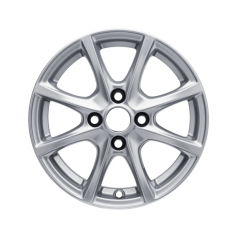 "Alloy Wheel 15"" x 6.0J Sparkle Silver 8 Spoke"