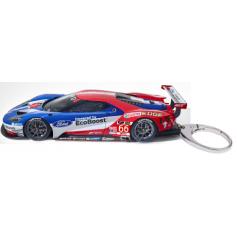 Ford Gt  Race Car Keyring