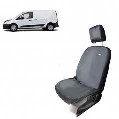 Connect Front LH Passenger Single Seat Heavy Duty Seat Cover Grey from 2014 onwards