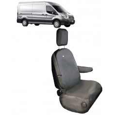 Transit from 2014 Front RH Driver Single Seat Heavy Duty Seat Cover Grey