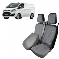 Custom Front LH Passenger Double Seat Heavy Duty Seat Cover Grey