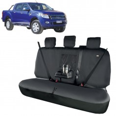 Ranger Rear Passenger Triple Seat Heavy Duty Seat Cover Black From 2015 onwards