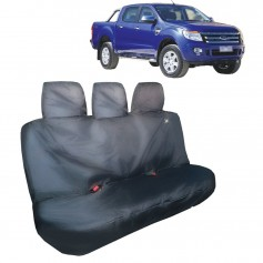 Ranger Rear Passenger Triple Seat Heavy Duty Seat Cover Grey From 2011 to 2015