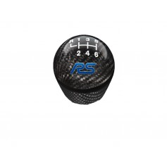 Ford Focus RS Gear Shift Knob Carbon Fiber & Black 6 Speed from 06-10-2014 to 16-02-2017