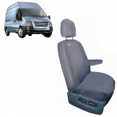 Transit & Tourneo Front RH Driver Single Seat Heavy Duty Seat Cover Grey From 2006 to 2013