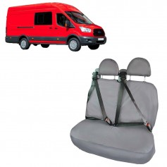 Transit Double Cab in Van RH Double Rear Seat Heavy Duty Seat Cover Black from 2015 onwards