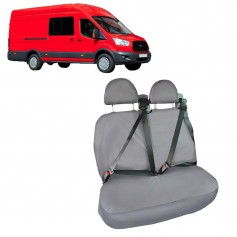 Transit Double Cab in Van LH Double Rear Seat Heavy Duty Seat Cover Black from 2015 onwards