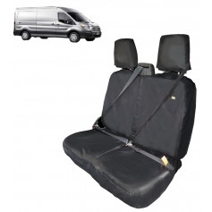 Transit Front LH Passenger Double Seat Heavy Duty Seat Cover Black From 2014 onwards