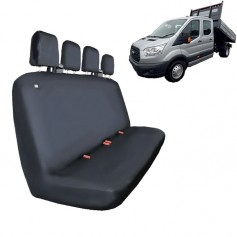 Transit Crewcab Quadruple Rear Seat Heavy Duty Seat Cover Black from 2014 onwards