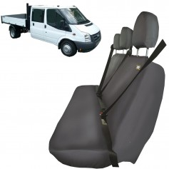 Transit Crewcab Triple Passenger Rear Seat Heavy Duty Seat Cover Grey from 2006 to 2013