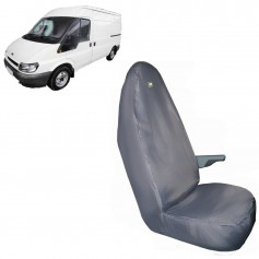 Transit & Tourneo Front RH Driver Single Seat Heavy Duty Seat Cover Grey 2000 to 2004
