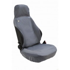 Universal Airbag Compatible Front RH or LH Seat Heavy Duty Seat Cover Black